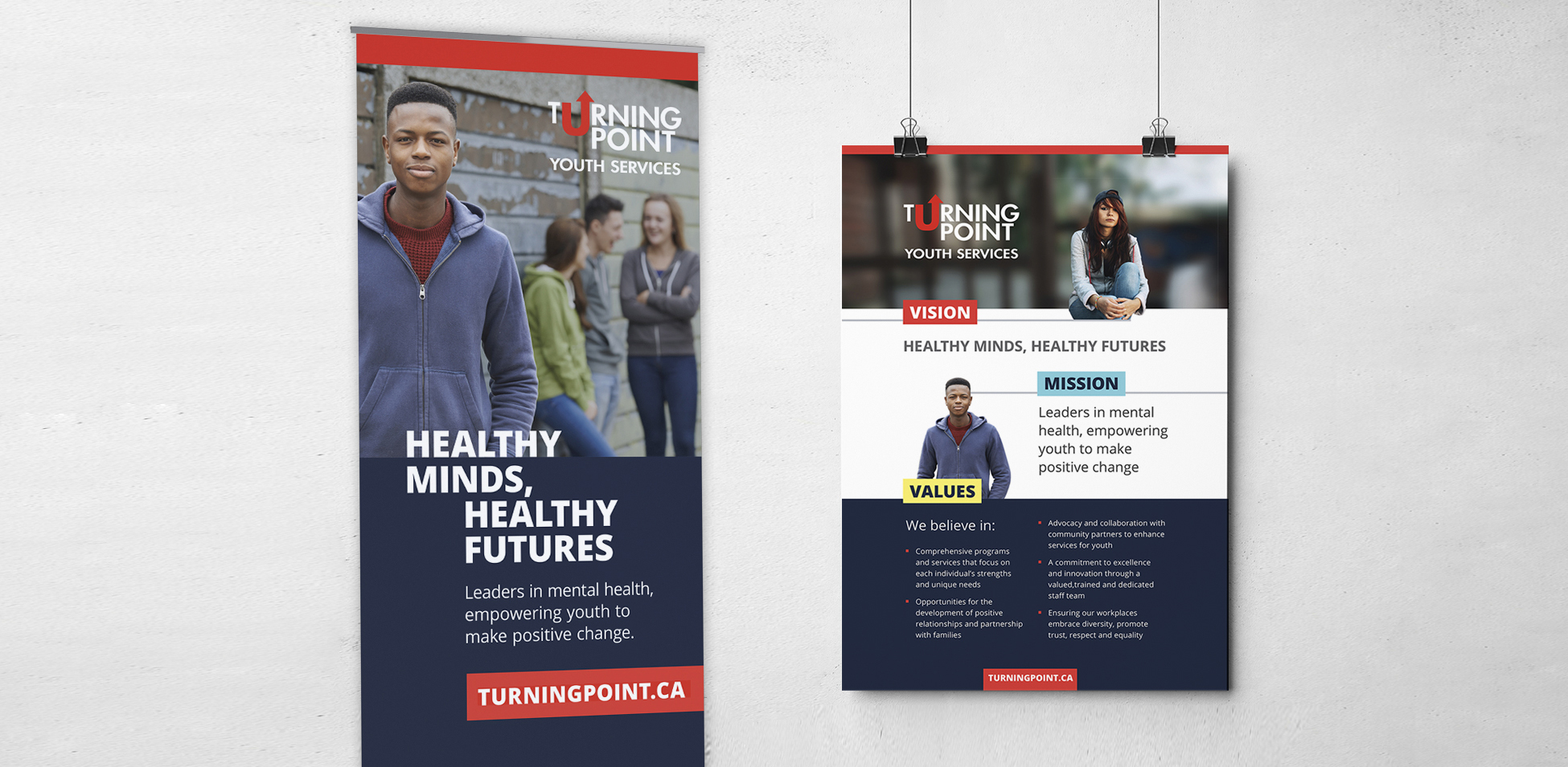 Turning Point Youth Services - Poster and Banner Design