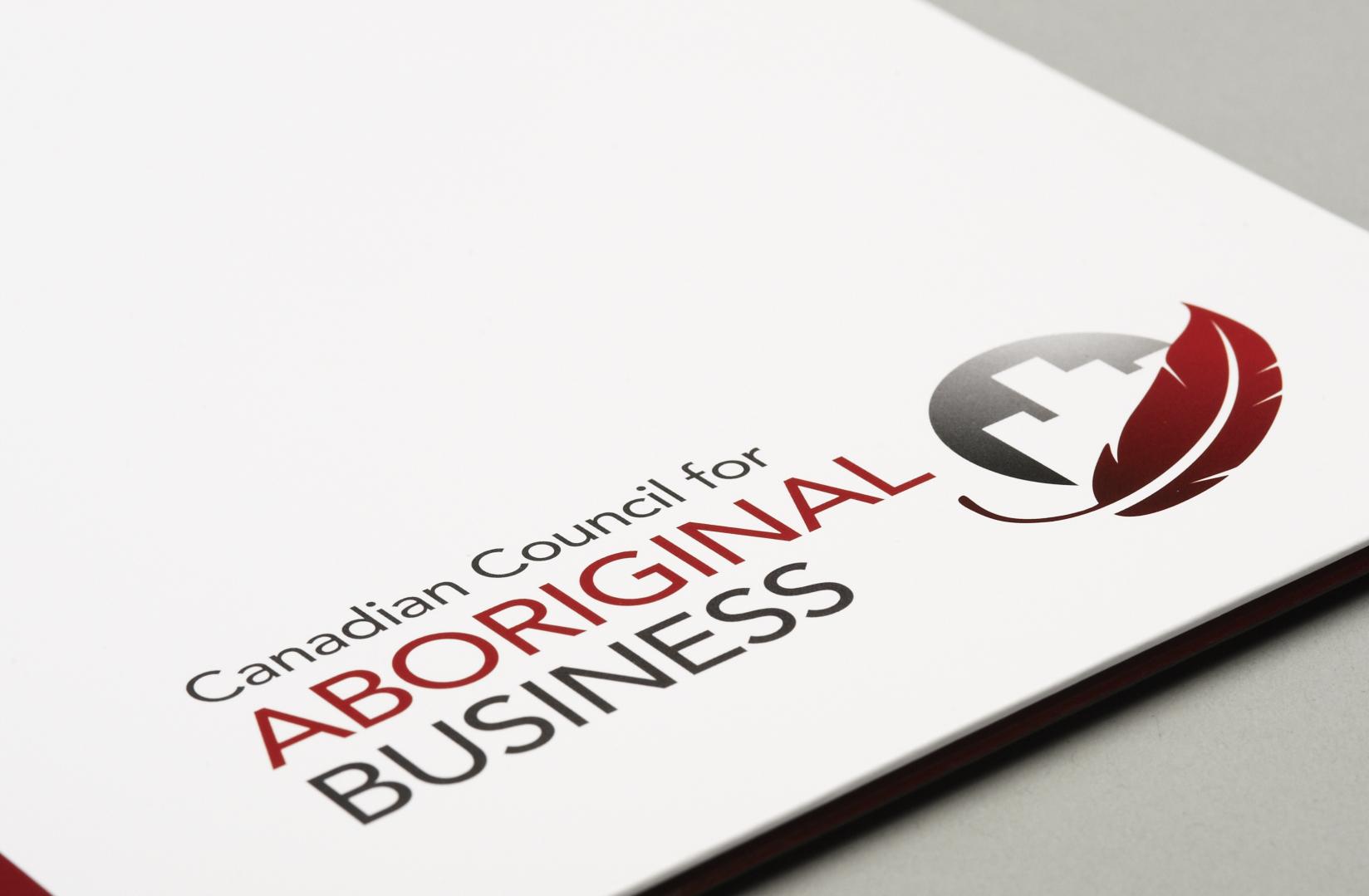 Canadian Council for Aboriginal Business - Stationery Design - Logo close up