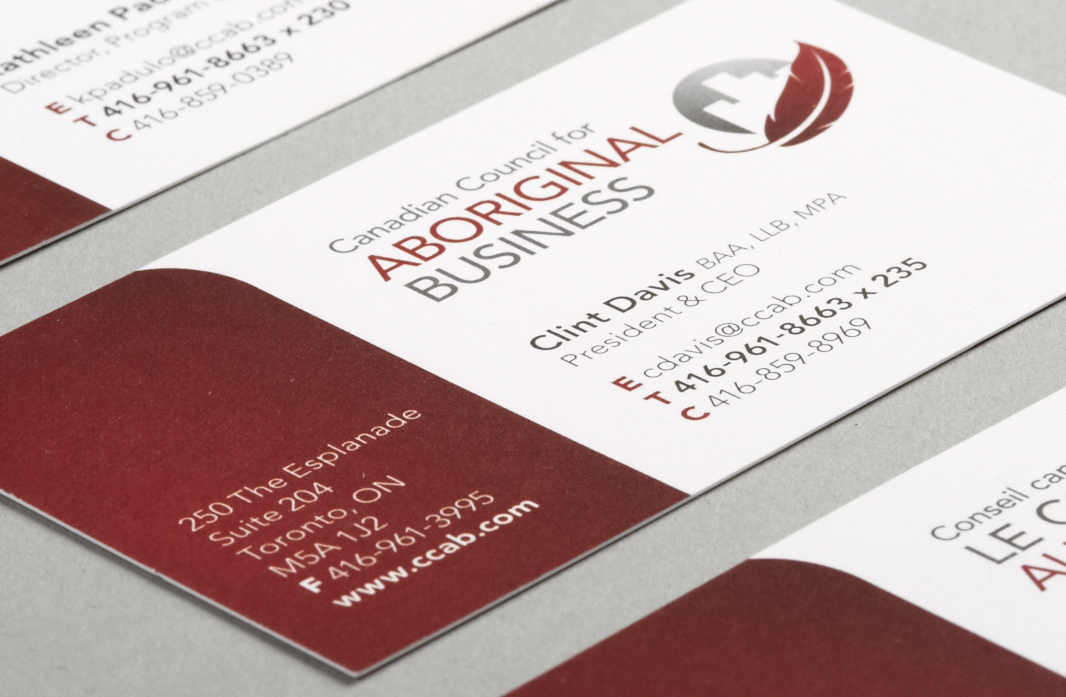 Canadian Council for Aboriginal Business - Stationery Design - Business Card