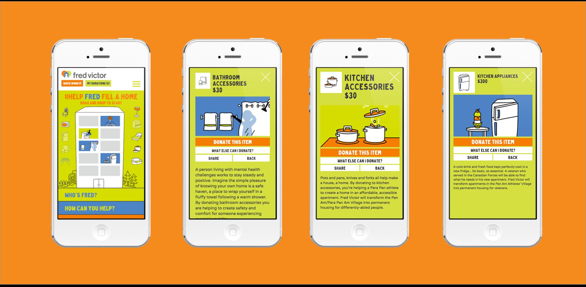 #HelpFredFillAHome - Digital Campaign - Mobile Set