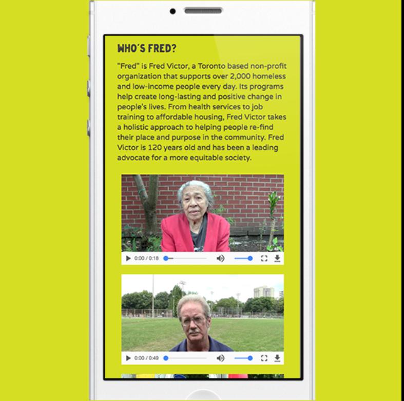 #HelpFredFillAHome - Digital Campaign - Mobile