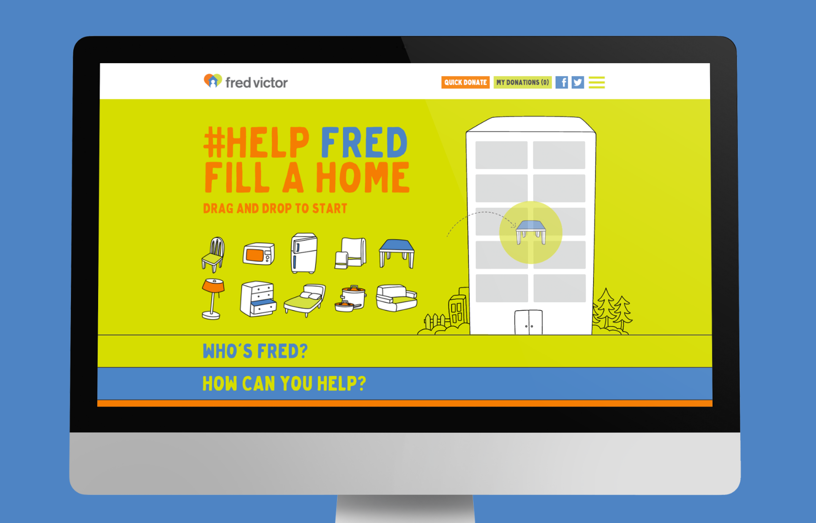 #HelpFredFillAHome - Digital Campaign - Website