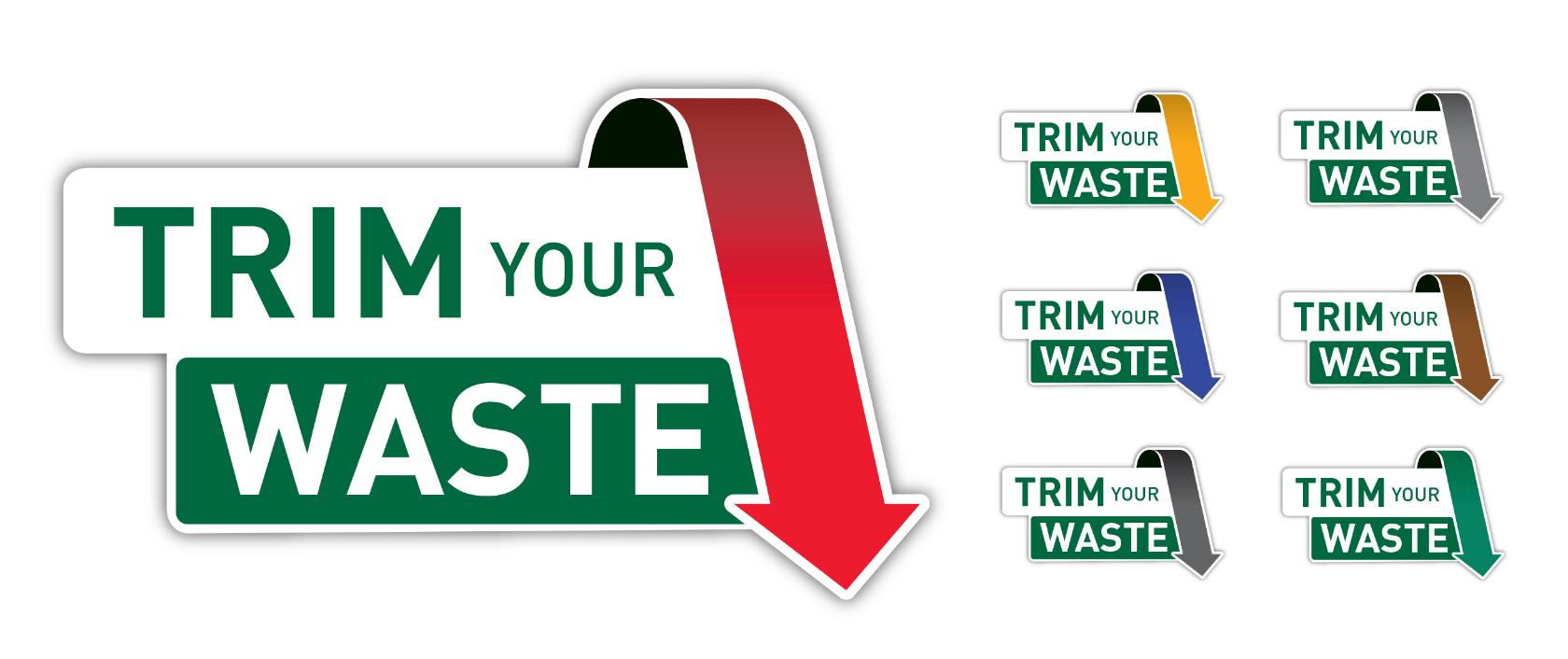 Wasteco - Trim Your Waste Logo - Colour variation