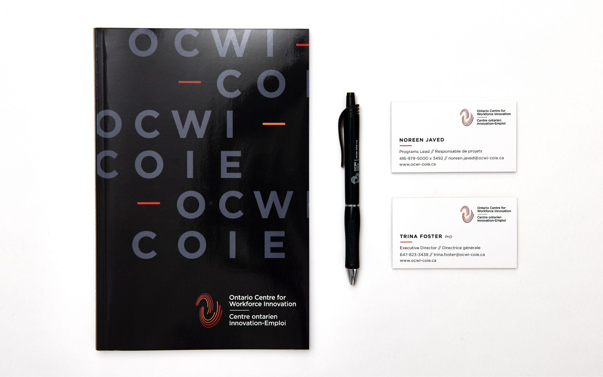 OCWI - Ontario Centre for Workforce Innovation - Stationery Design