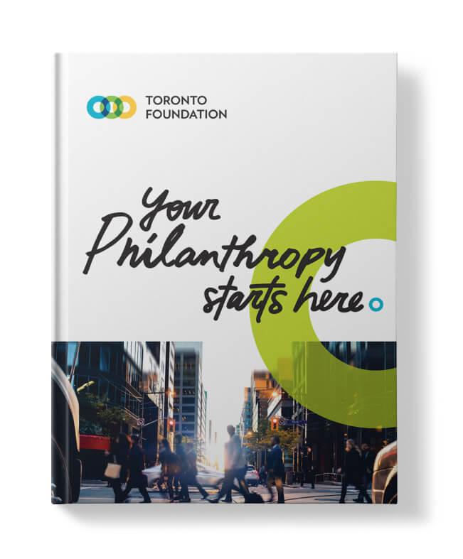Cover artwork for Toronto Foundation's promotional brochure