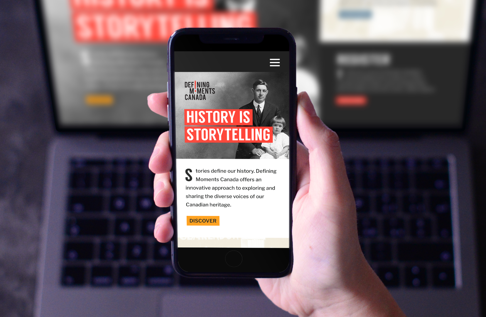 Defining Moments Canada Mobile Homepage