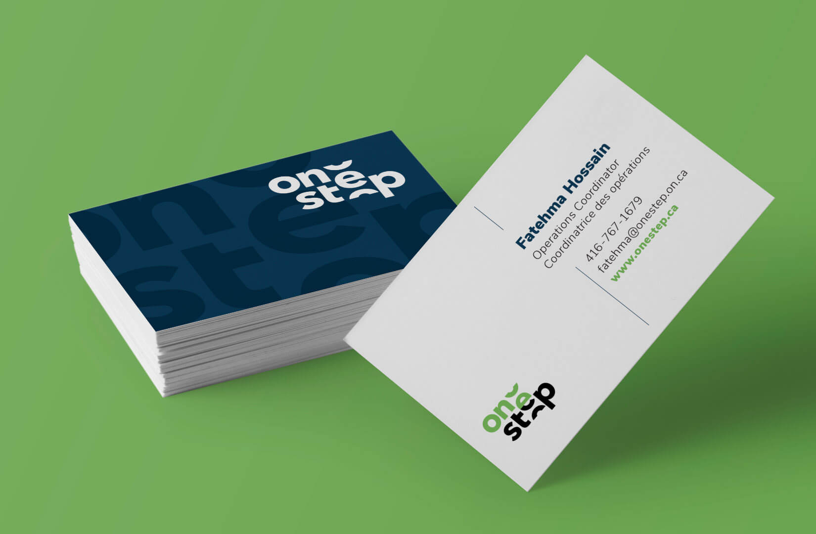OneStep business card design