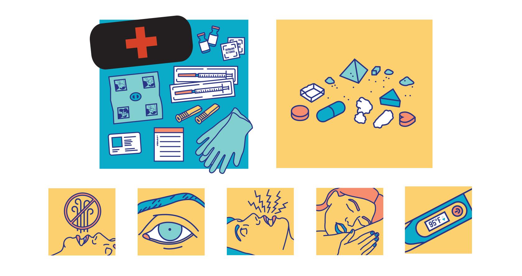 Customized illustration used for Naloxone campaign